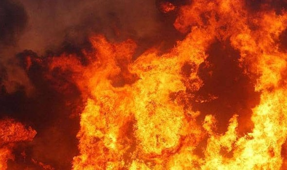حريق مهول يستنفر السلطات في بني ملال ويصيب شخصين