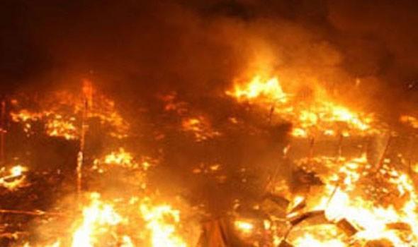 اندلاع حريق ضخم في غابات عكار شمالي لبنان