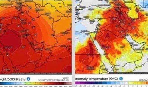 13 مدينة عربية تسجل أعلى درجات حرارة في العالم من بينها مدينة الكويت
