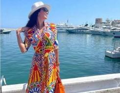 المغرب اليوم - أجمل إطلالات ديما الأسدي بالأزياء المطبّعة