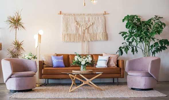 أفكار الديكور الخريفي في غرفة الجلوس لمنزل عصري